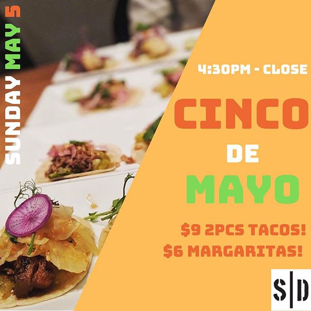 C I N C O  D E  M A Y O !  Join us this Sunday for taco and drink specials A L L  N I G H T  L O N G 🌮🍴🥑 #ottawa #cincodemayo #ottawarestaurants #eatlocal  #happyhourottawa 📸 @capitaltastes