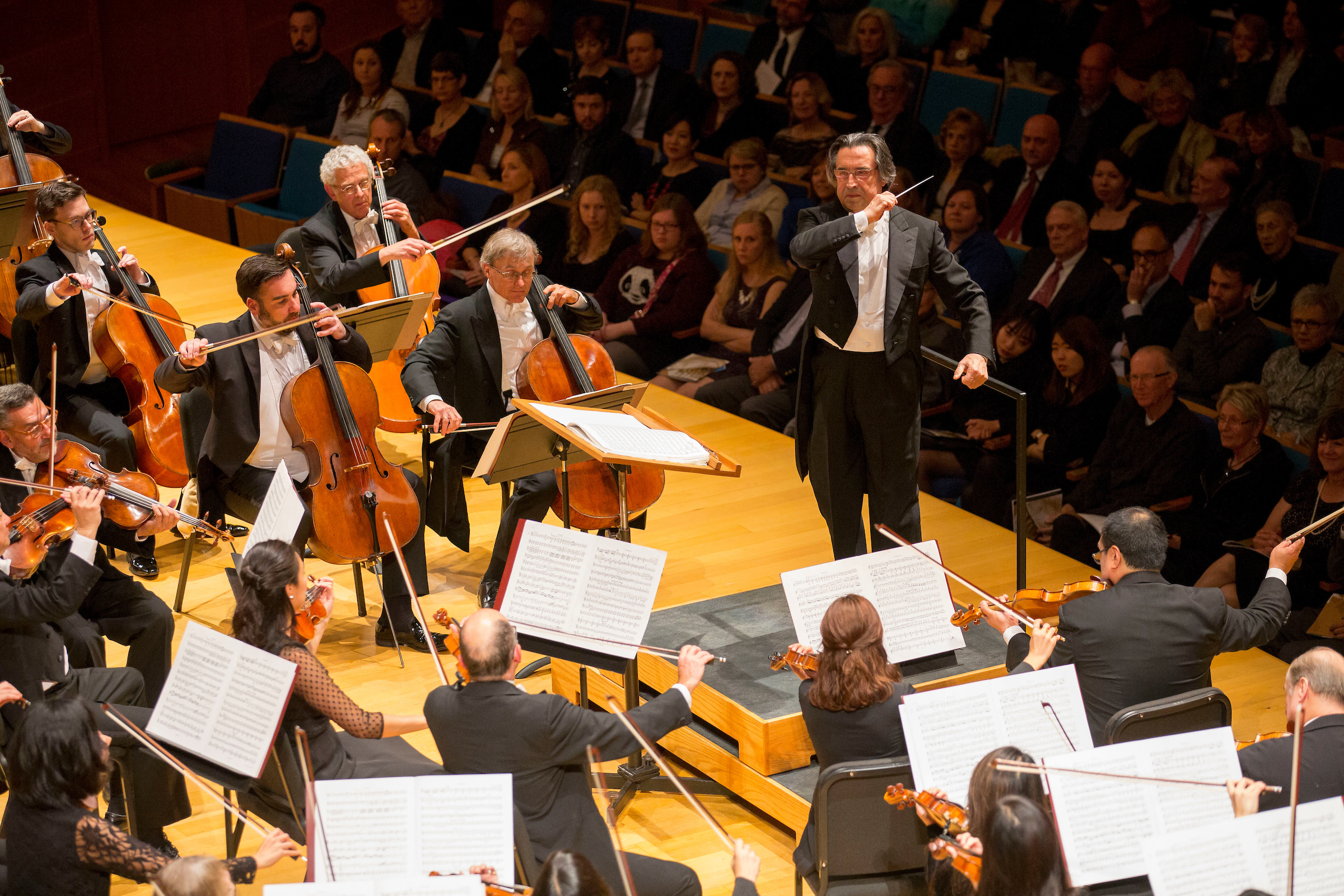 Chicago Symphony Orchestra, Zell Music Director Riccardo Muti, in first Helzberg Hall performance in 2015.  Photo  credit: Todd Rosenberg Photography