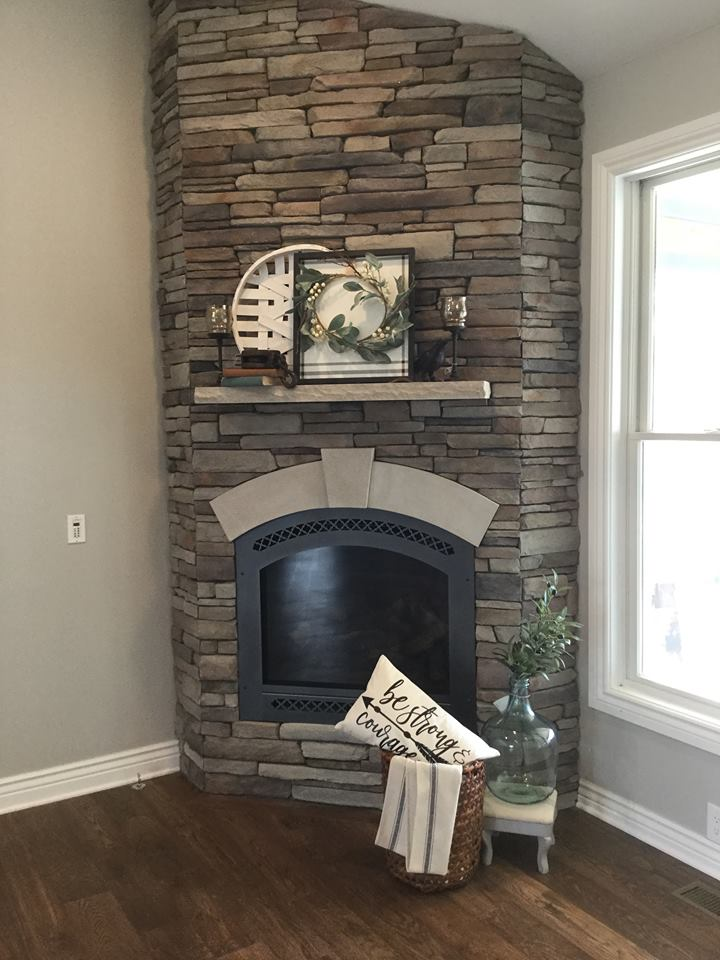 New build in Ortonville, MI. Designed and styled by Nicolette with decor from Caveman&Pip vendors Chisel and Pour, Rusty Red Fox, DeBella and Cottage Designs.