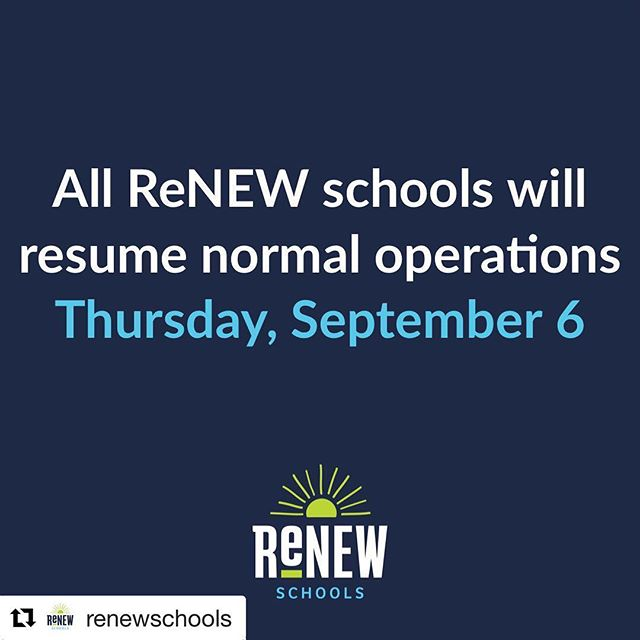 #Repost @renewschools ・・・ We're looking forward to seeing our students tomorrow (Thursday, 9/6)! #renewschools #nola #nolaed