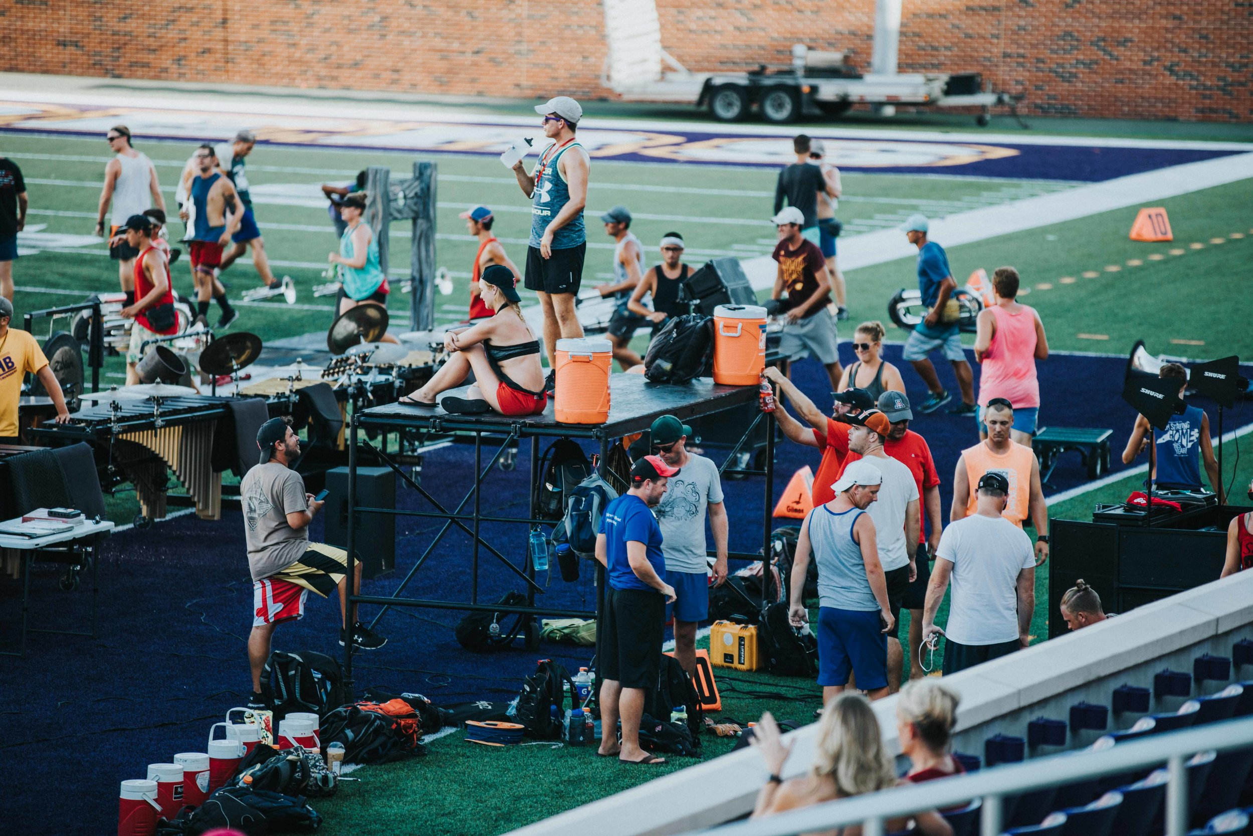 The Boston Crusaders rehearsed Friday, July 21st in preparation for DCI's Southwestern Regional the following day