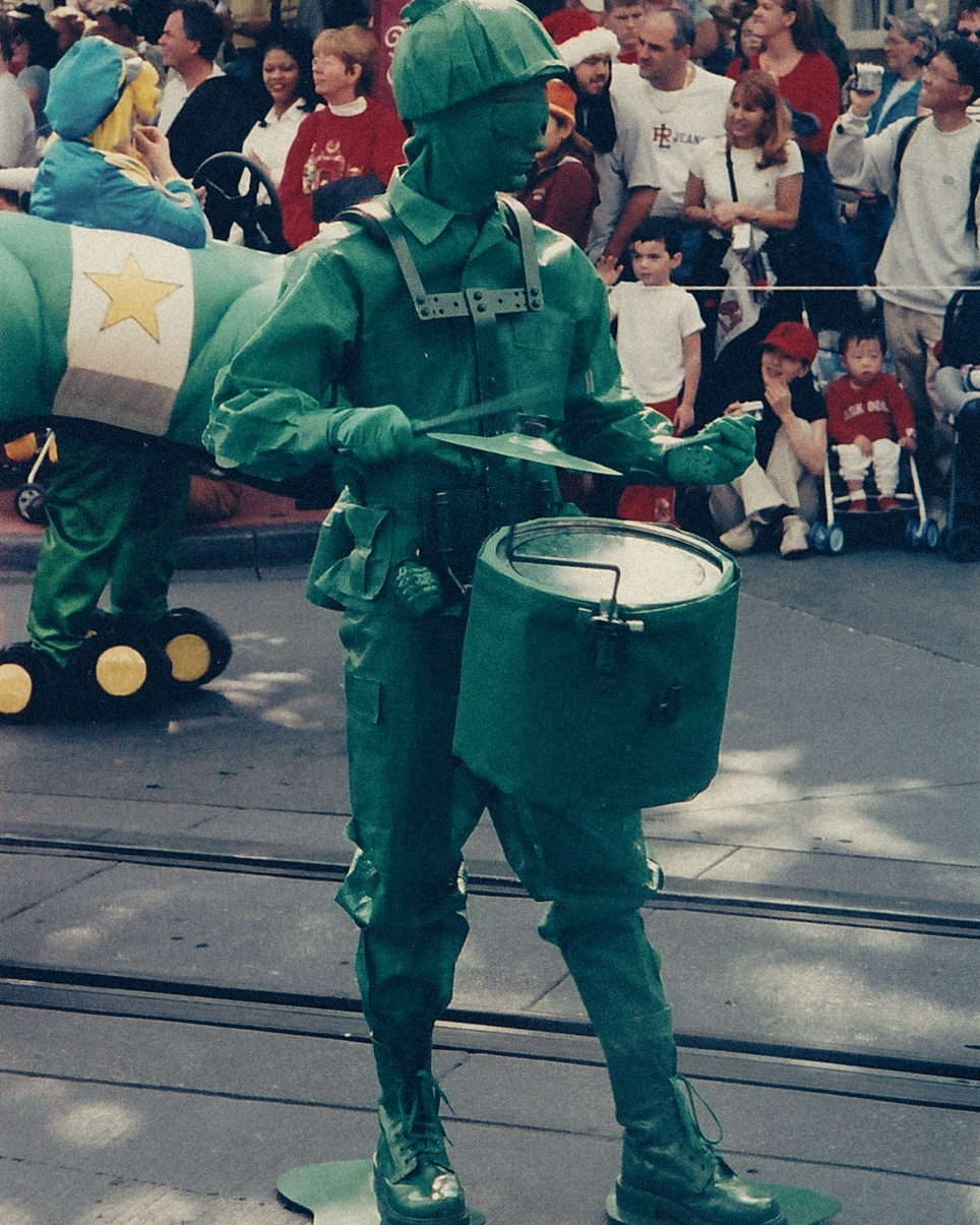 Verburg performing at Disney World as a Toy Soldier