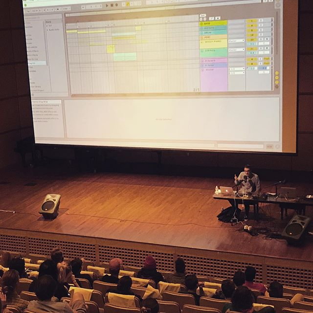 Matt broke down a couple of cues during an @ableton event last night at @westminsterslc. Very cool gathering of local music producers.  #productionmusic #ableton #musicforfilm #librarymusic #musicproduction