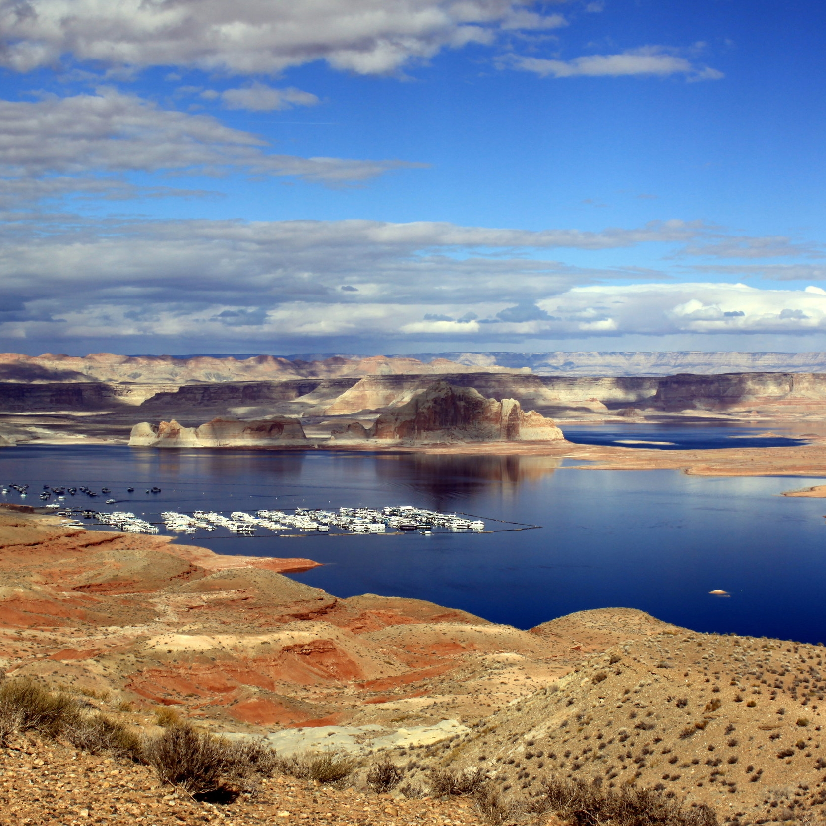 Views of Lake Powell from Highway 89