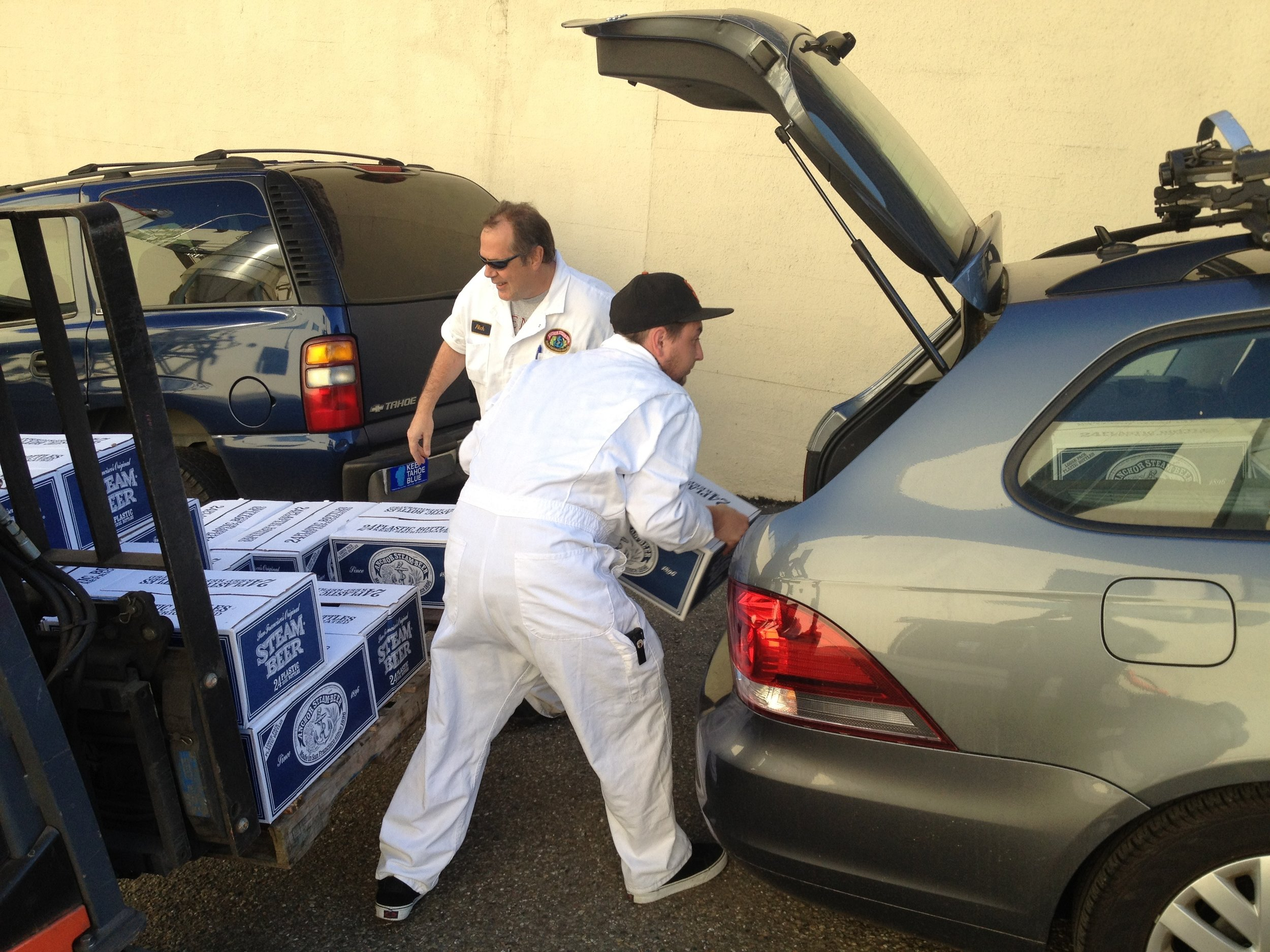All hands - What would the comp be without a personal delivery of 24 cases of Anchor Steam?