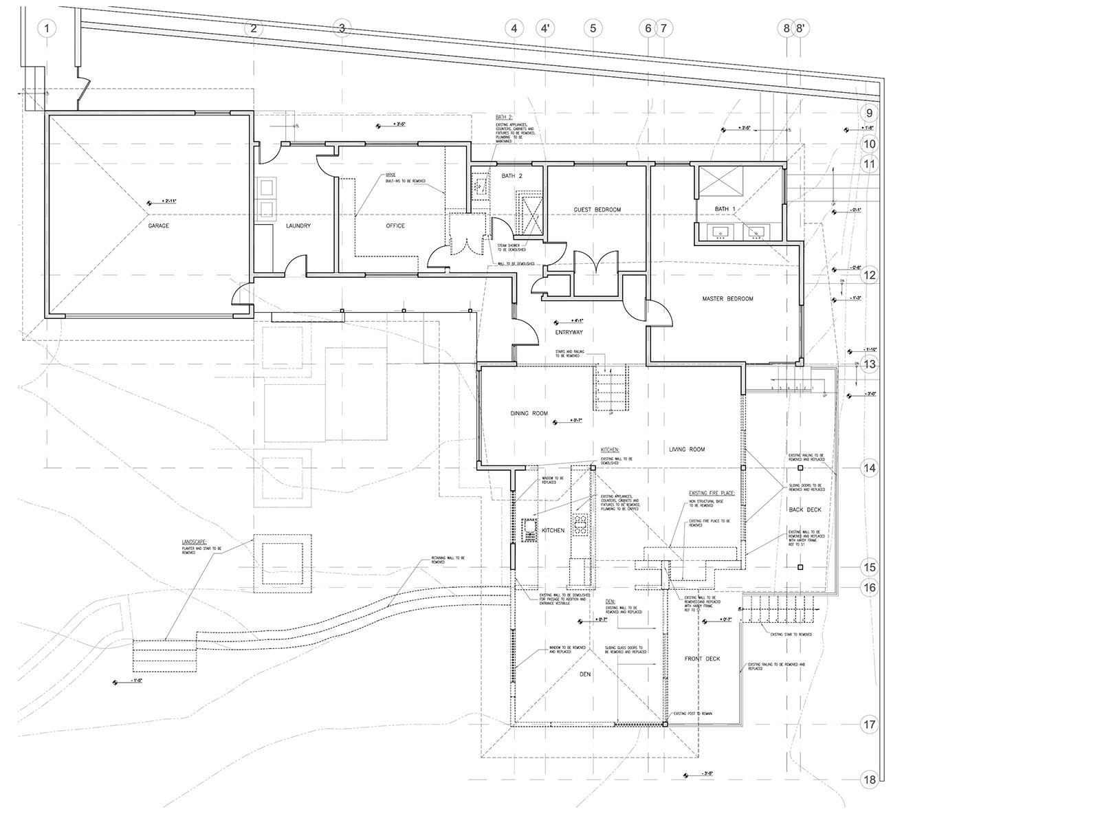 Existing plan of 1960's craftsmen