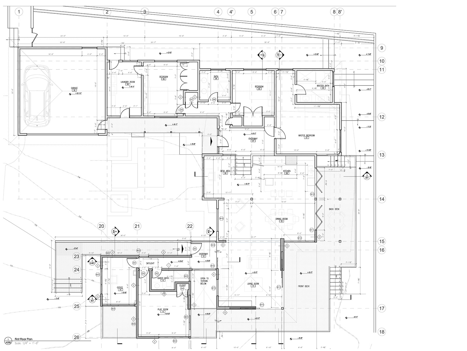 Finishing plan of addition and remodel