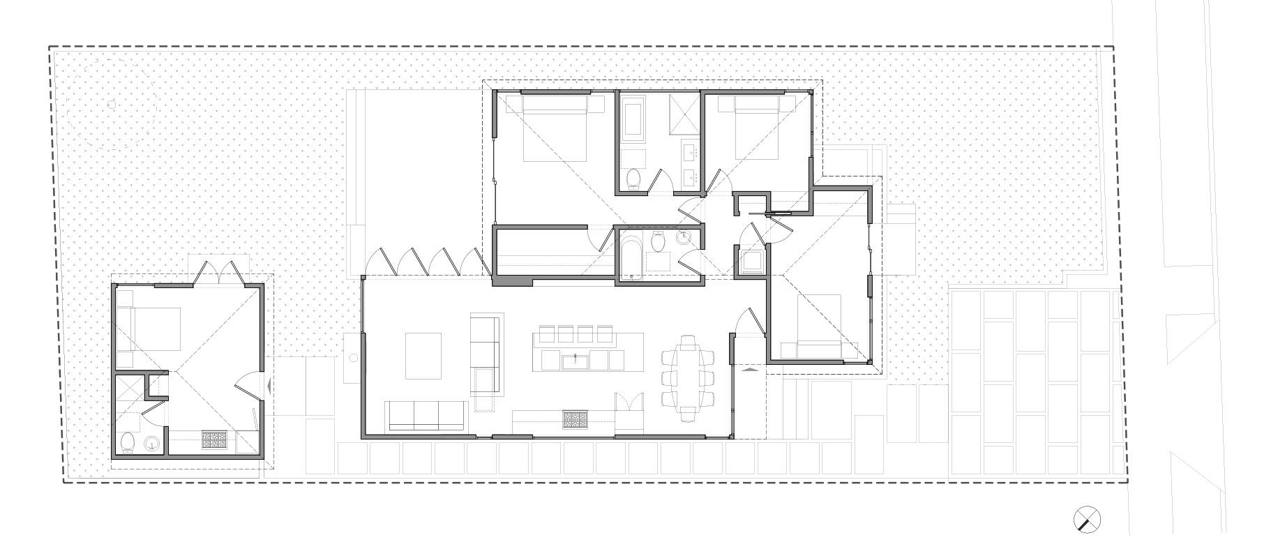 Finished plan of remodel/addition/garage conversion