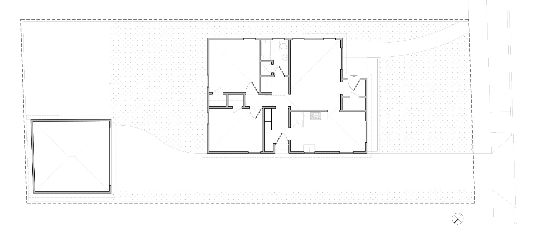 Plan of existing 1950's bungalow