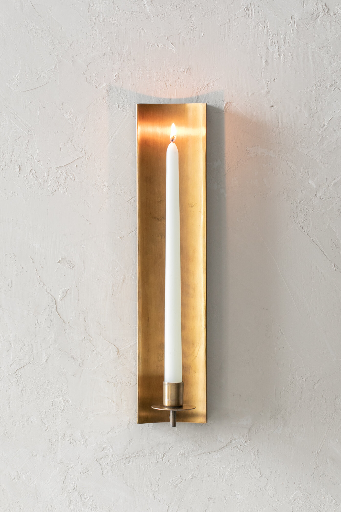 Channel Wall Sconce Brass Wall Candle Holder Hoppe Shoppe