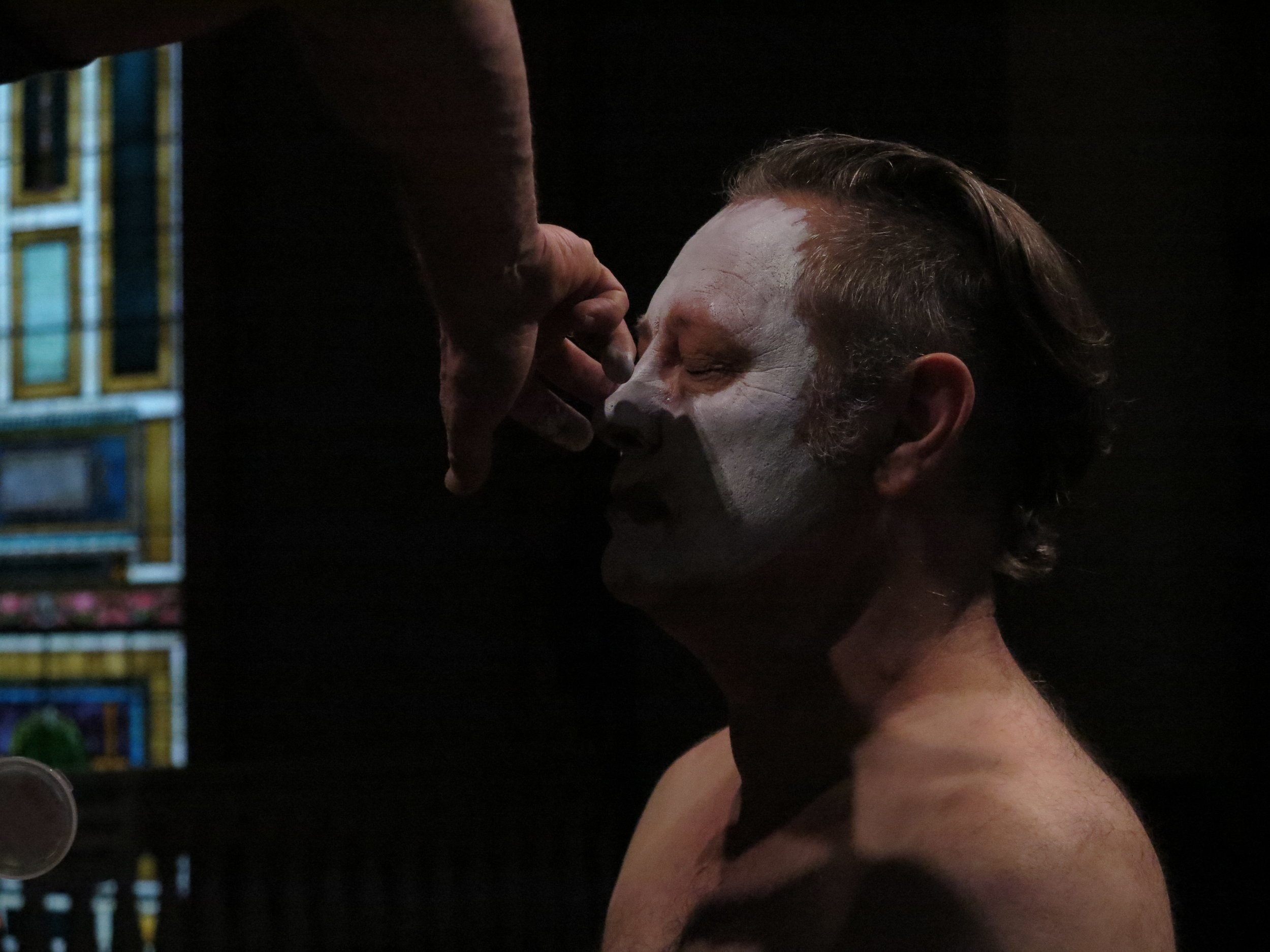 Ben Watts eyes closed makeup, Faust 3: The Turd Coming