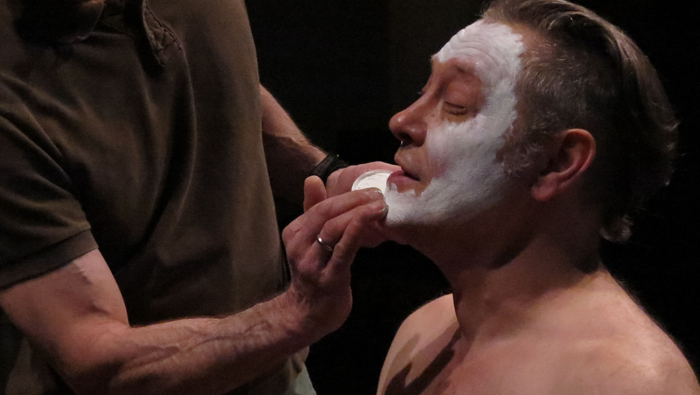 Ben Watts in makeup, Faust 3: The Turd Coming