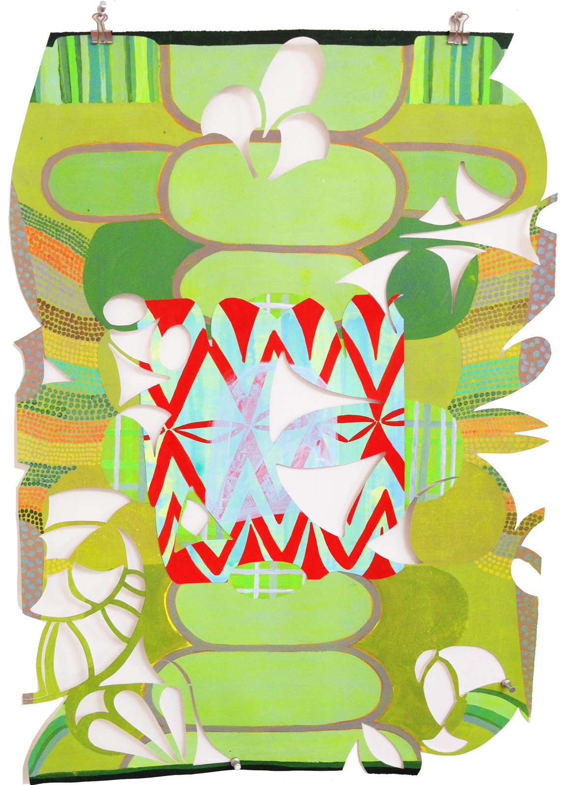 untitled (green cut paper)