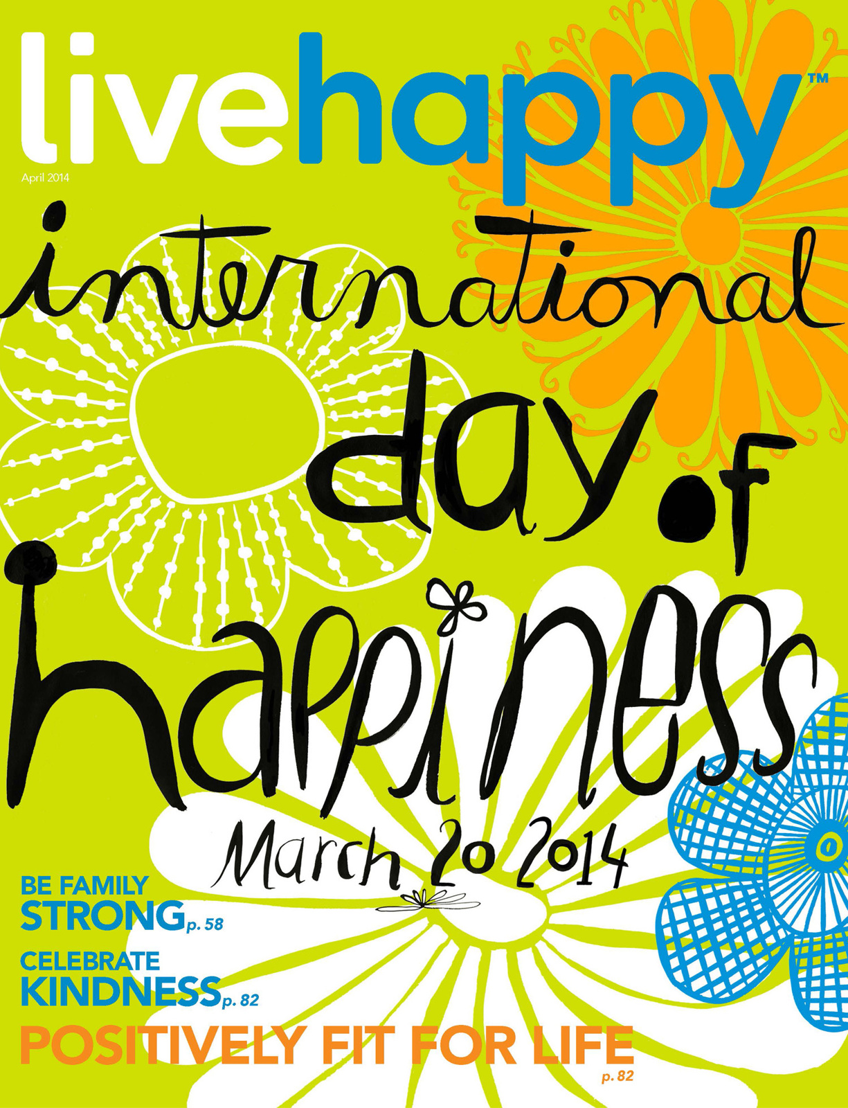 Live Happy Magazine cover
