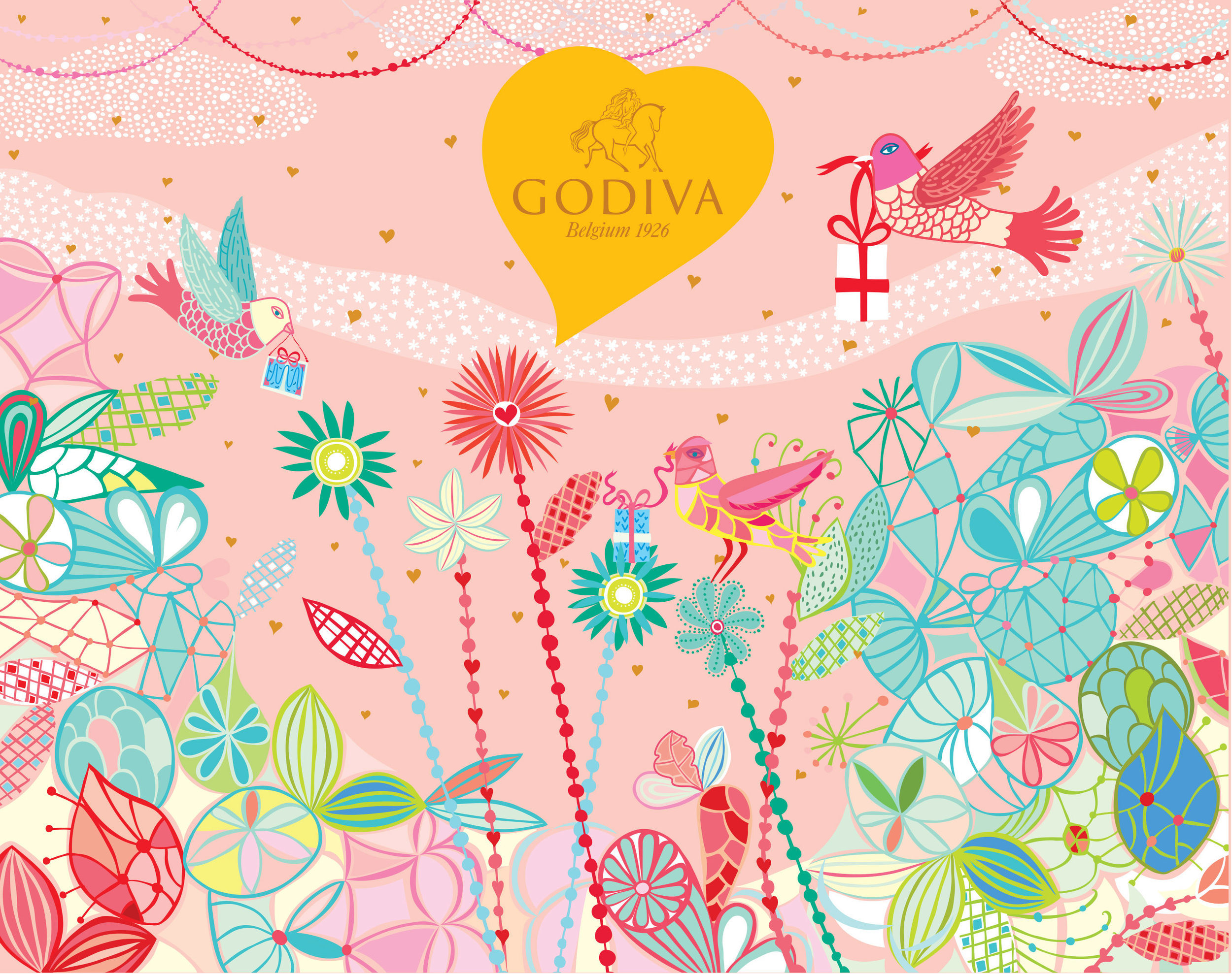 Godiva Chocolate White Day Packaging