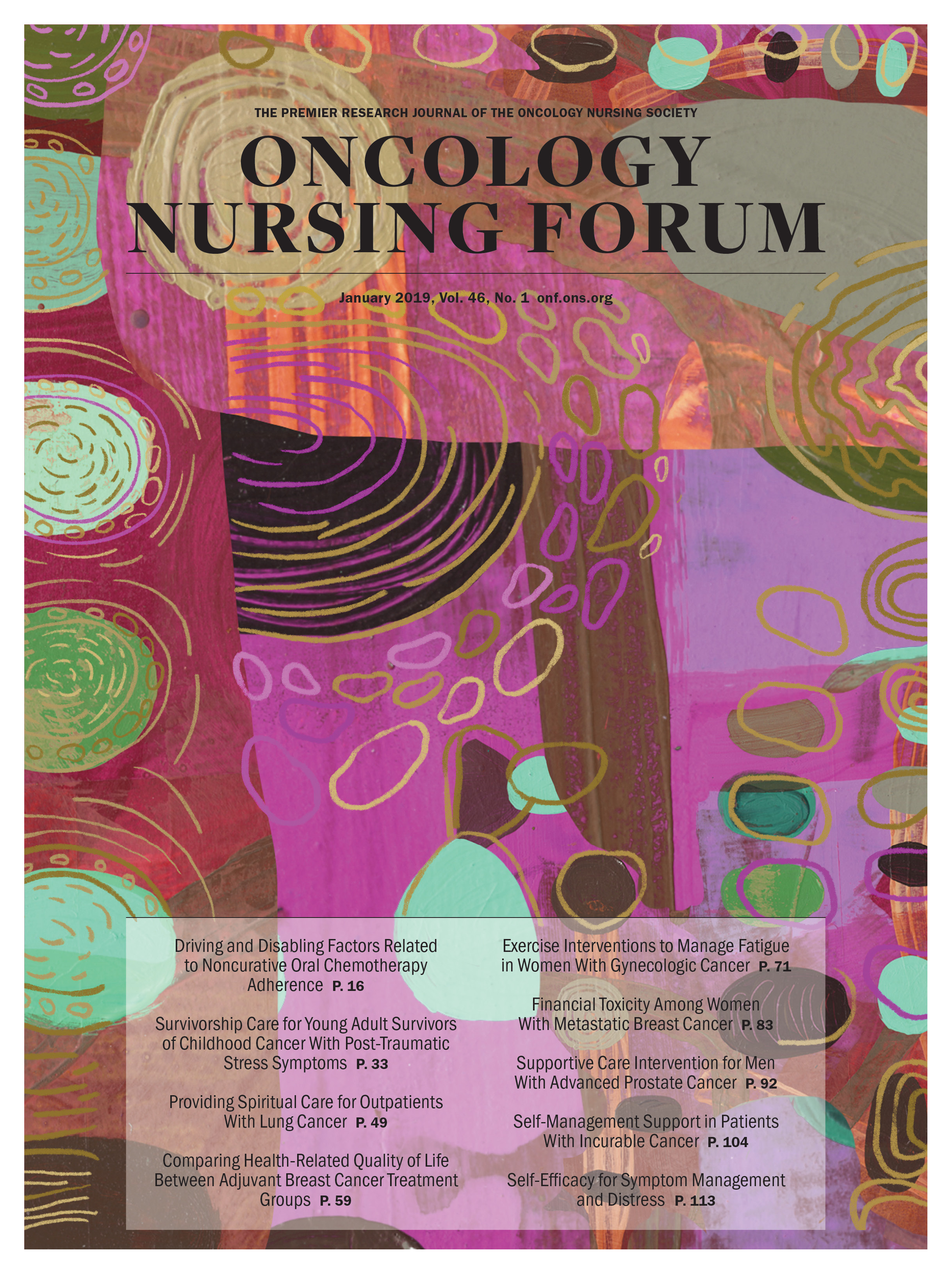 January Cover for Oncology Nursing Forum