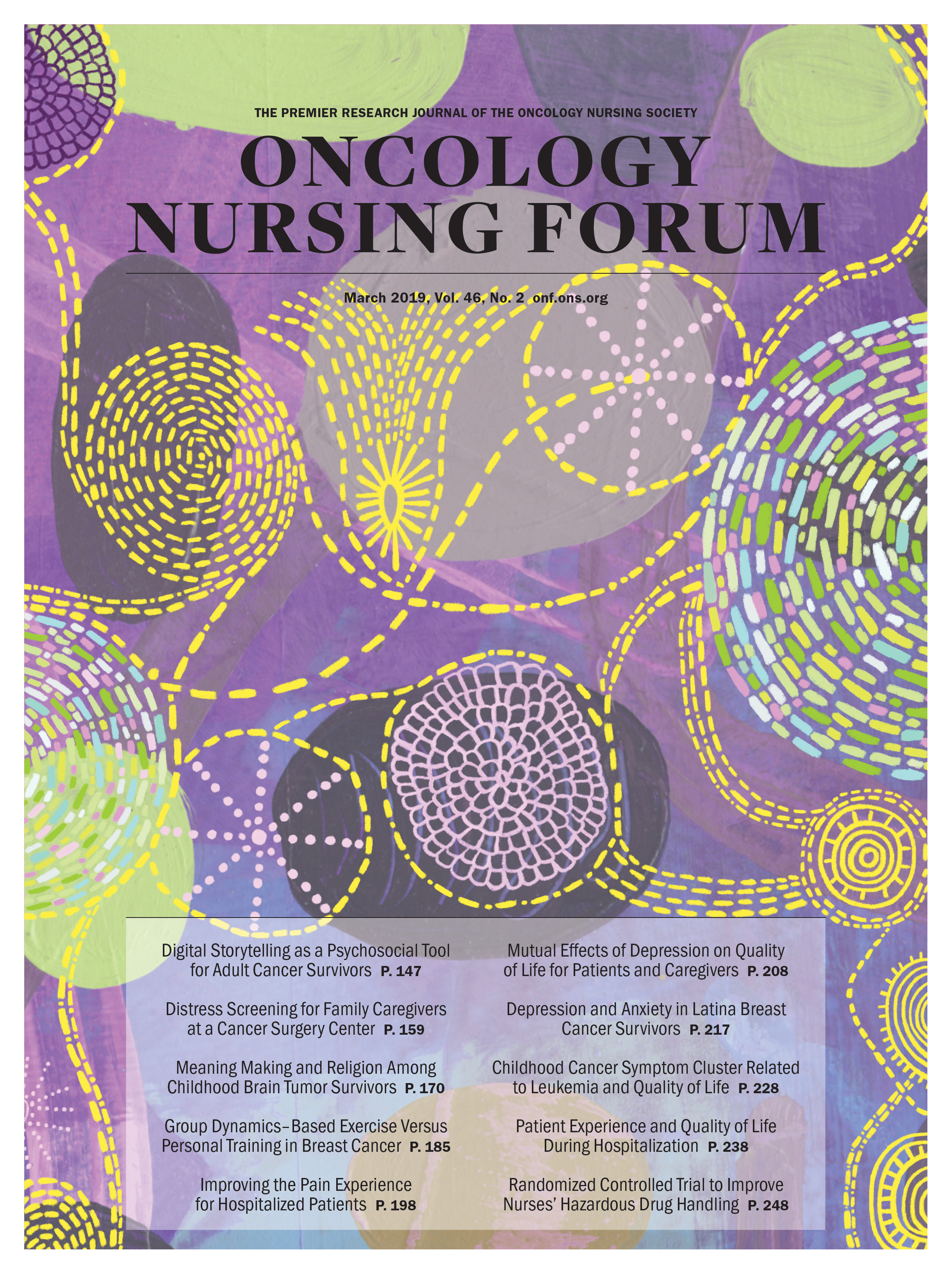 March Cover for Oncology Nursing Forum