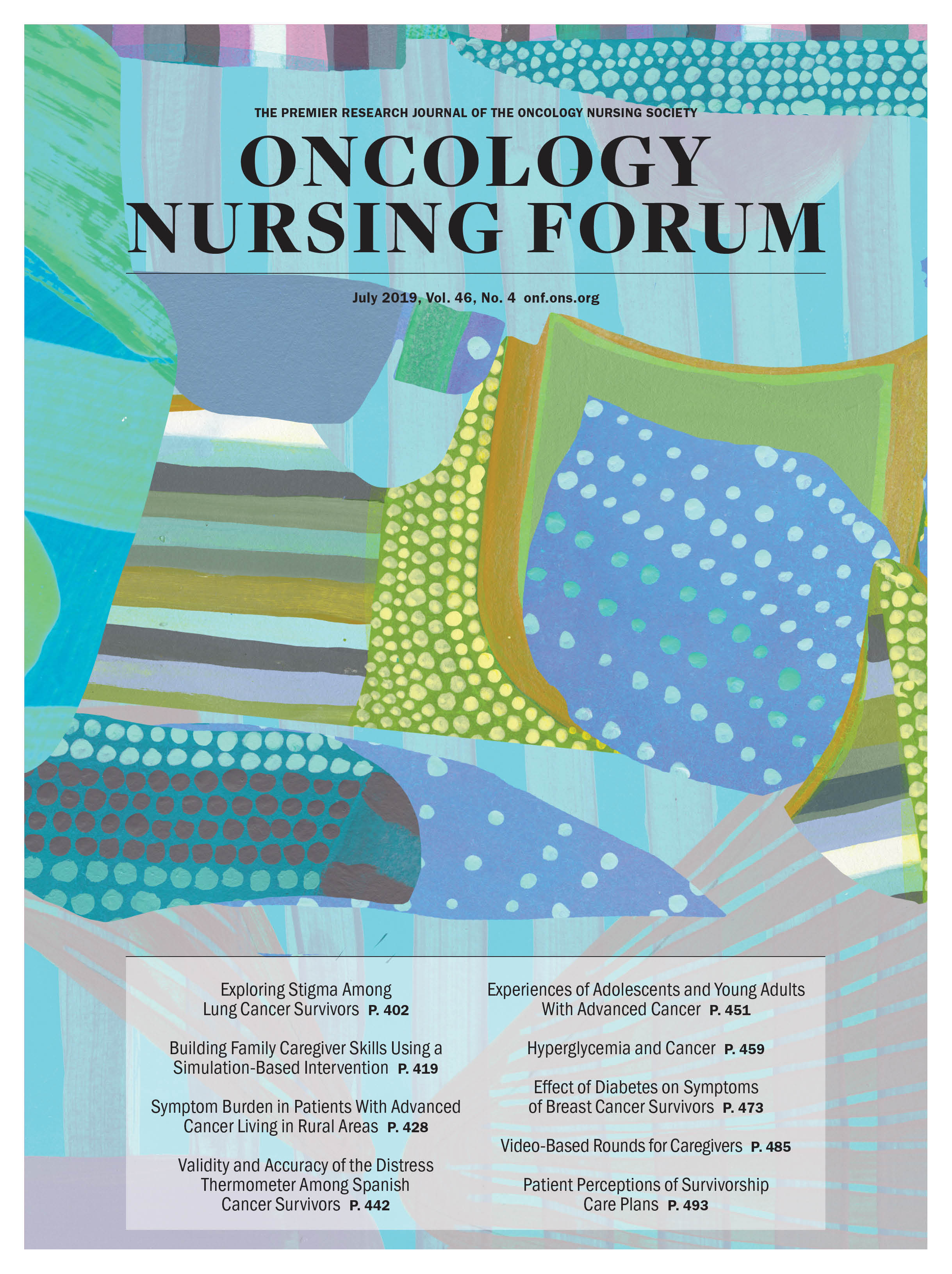 Copy of July Cover for Oncology Nursing Forum