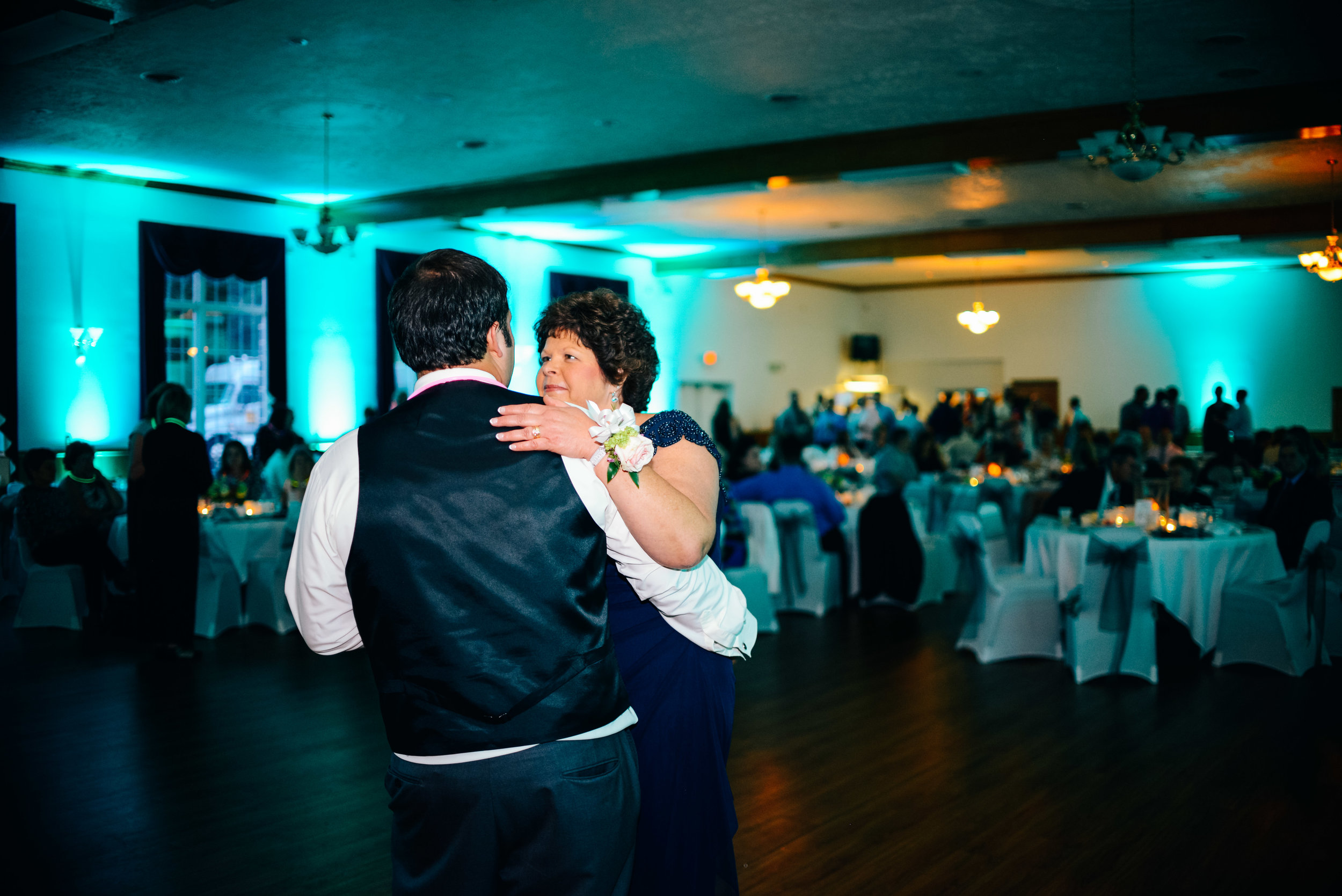 Mother Son Dance at the reception at Contres Greer Social Hall in Northern Camrbia