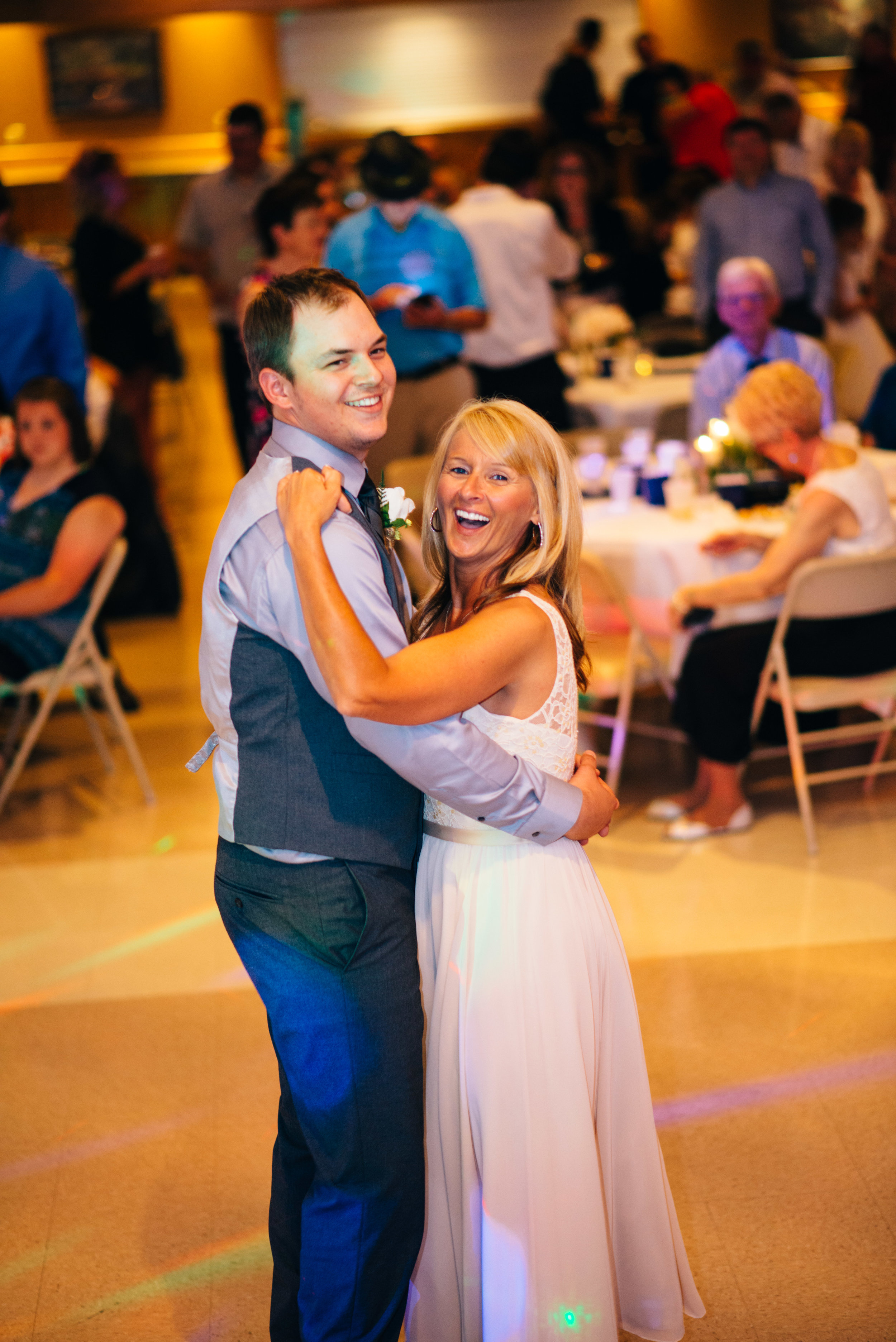 Mother son dance during wedding reception at Carrolltown Fire Co. Banquet Hall