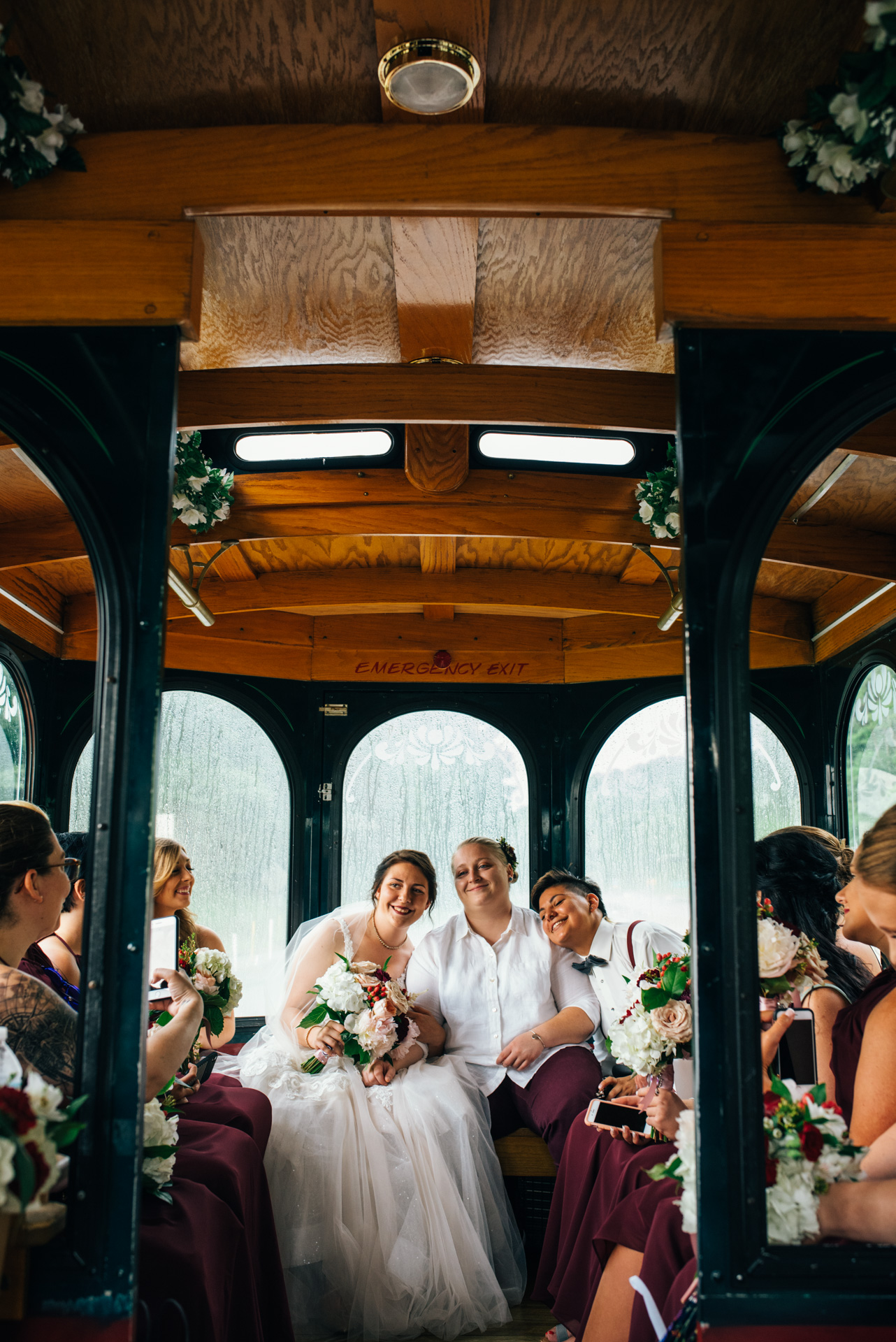 Wedding Trolley in Johnstown PA