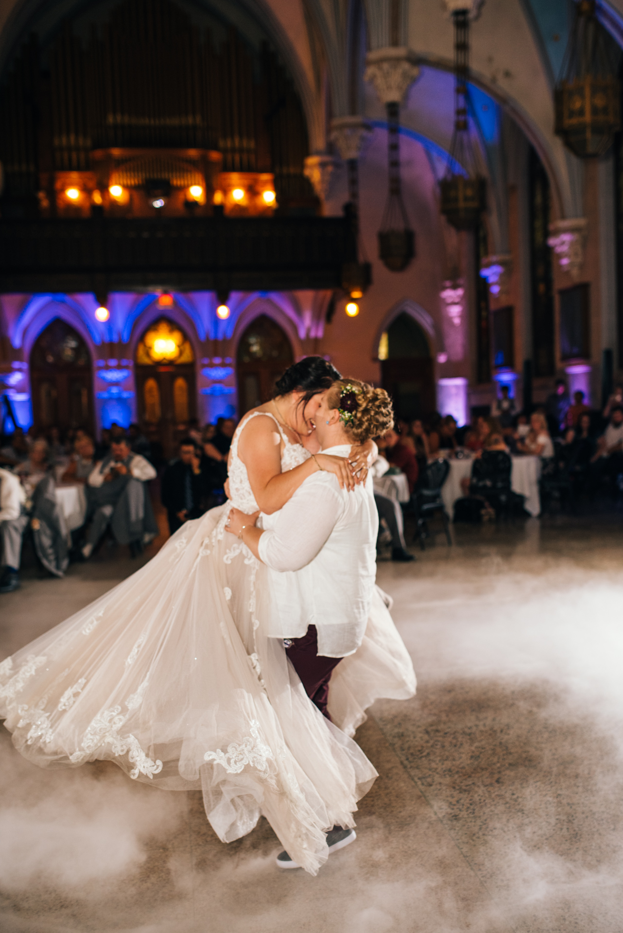 LGBTQ Wedding Dancing on a Cloud