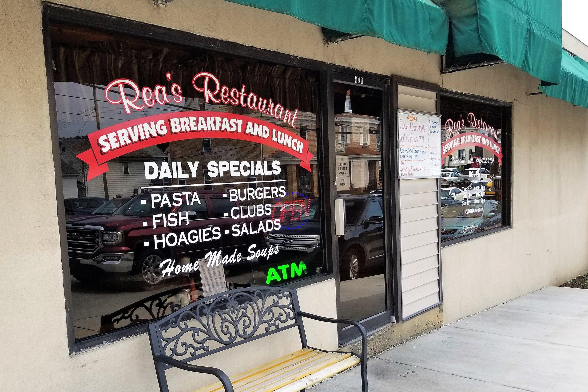 Rea's Restaurant - 401 Ferree St, (412) 262-4730