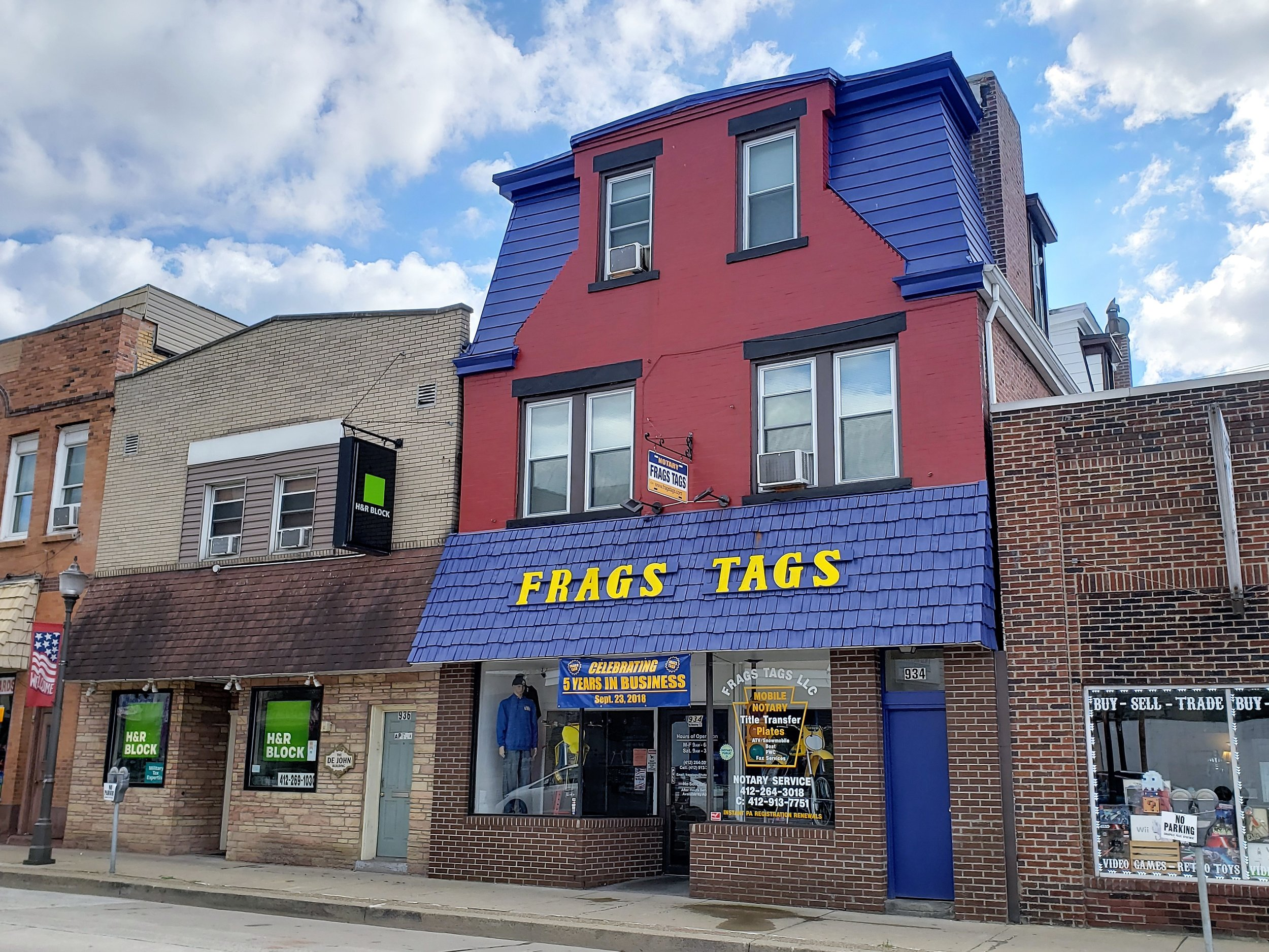 Frags Tags LLC - 934 5th Ave, (412) 264-3018
