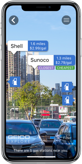 FinD Gas Feature  Finding the closest gas station was one of the two functionalities introduced with the first public release. It allowed you to see the closest and cheapest stations near you.