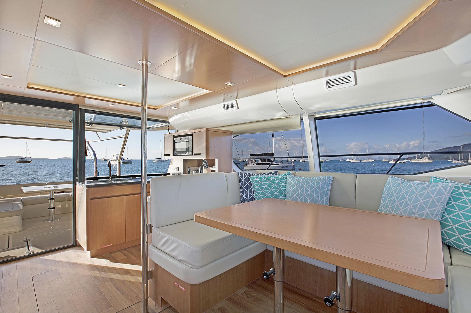 Champagne Sunset Saloon, Aquila 44 - Luxury Yachts Whitsundays