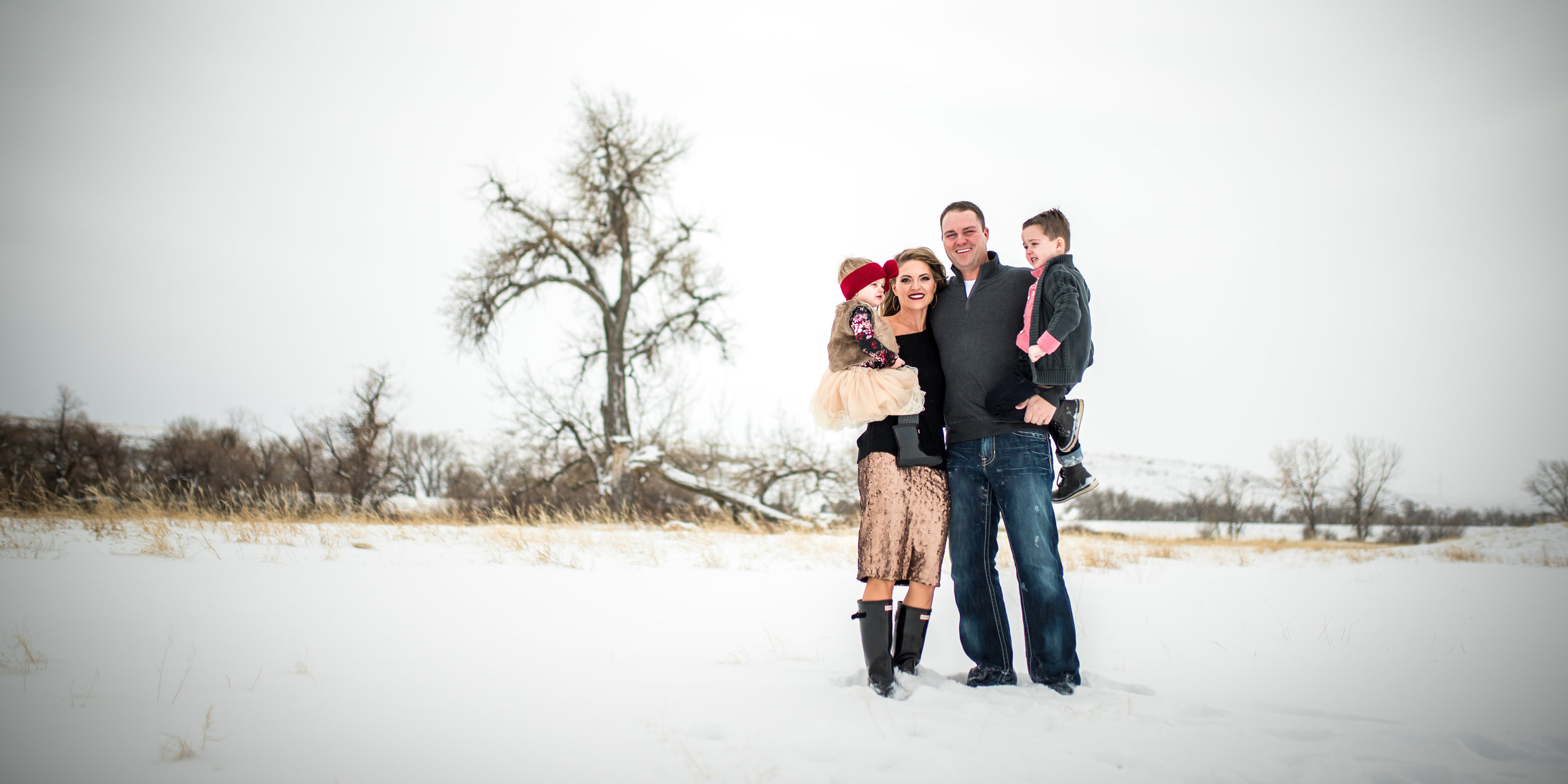 Winter family session in Montana