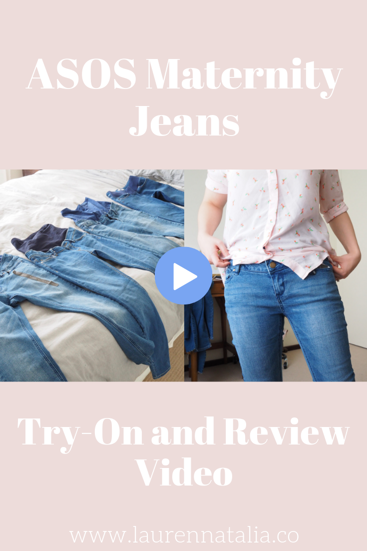 Asos Maternity Jeans Try-on and Review video - Pinterest Graphic 1.png