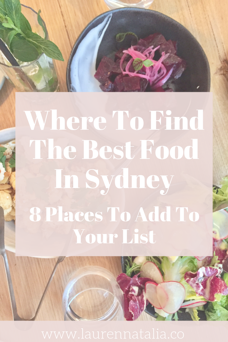 where to find the best food in sydney