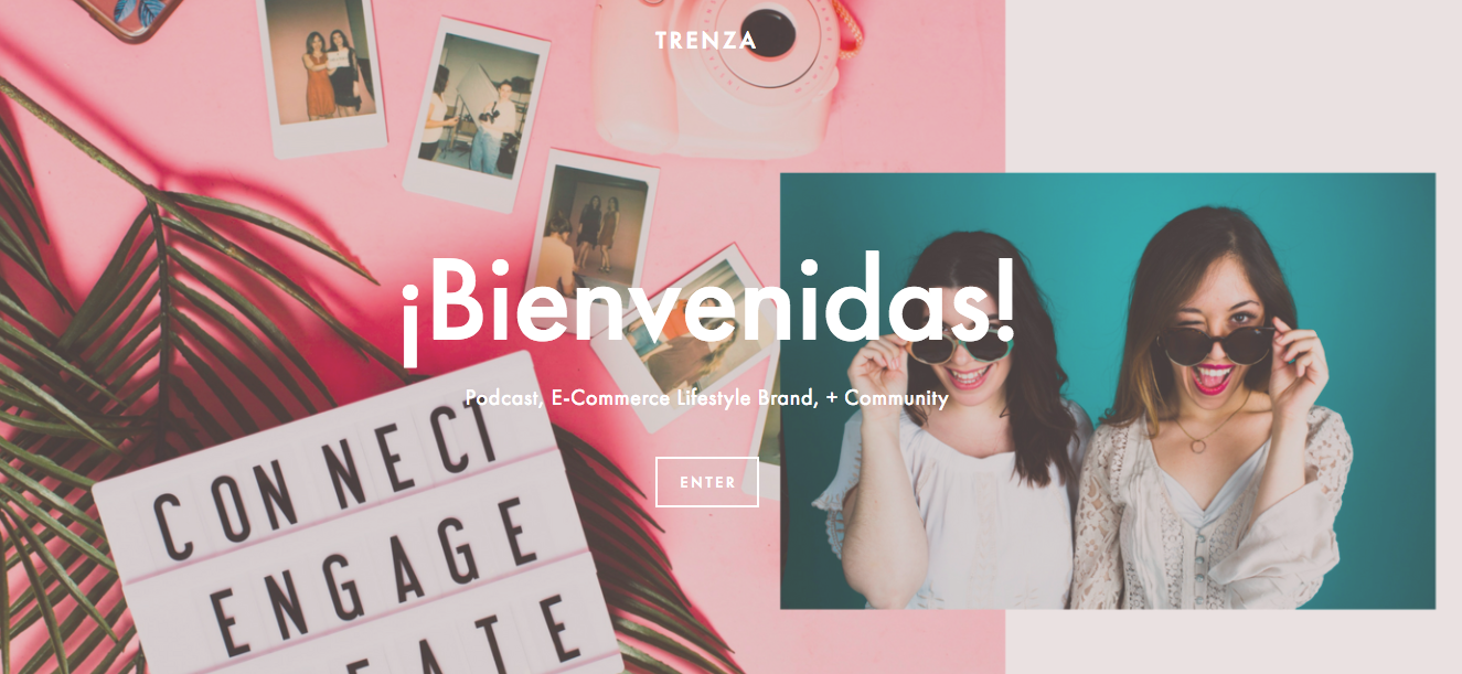 Trenza, a creative community in NYC for WOC. Responsible for website branding ideation and copy.