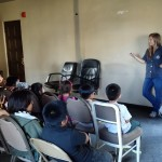 Jenna introduced the idea of stress management to the youth - and they were ready to hear more!