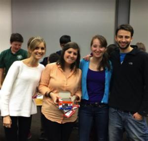 PIA outreach members Beth Moroney, Julia Hammett, Sasha Reed and Mark Straccia