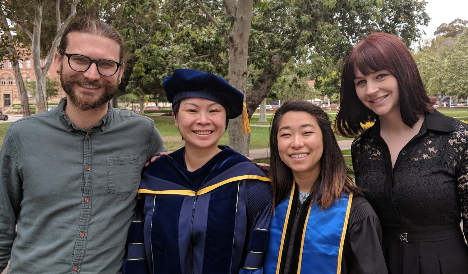 PIA Presidents Jeffrey Bye (2012-2014), Joey Essoe (2014-2016), Tawny Tsang (2016-2018), and Stacy Shaw (2018 - present).
