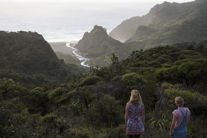 Wwoofers and beach view d.jpg
