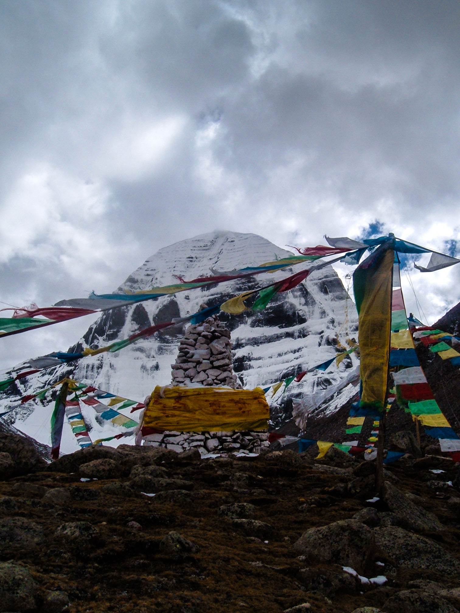 Prayer flags at Mt. Kailash