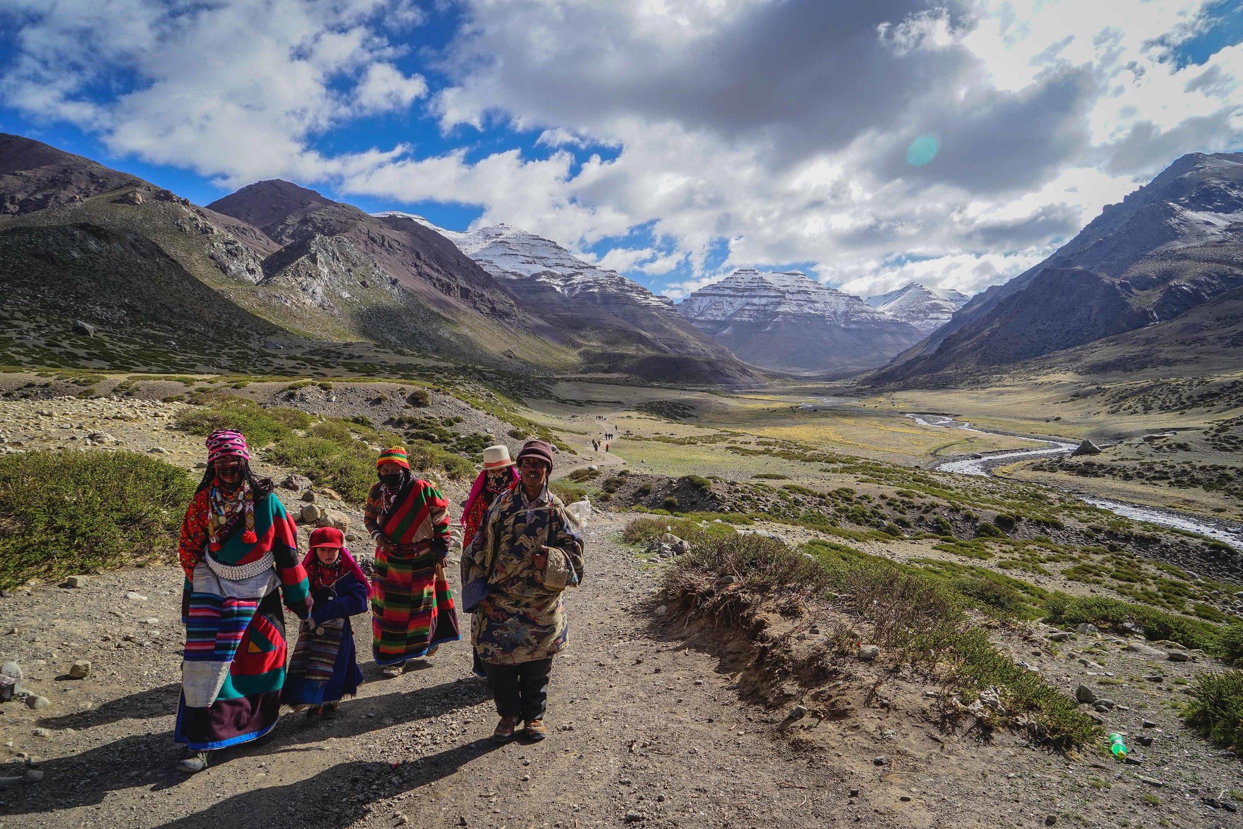 Trekking around Mt. Kailash