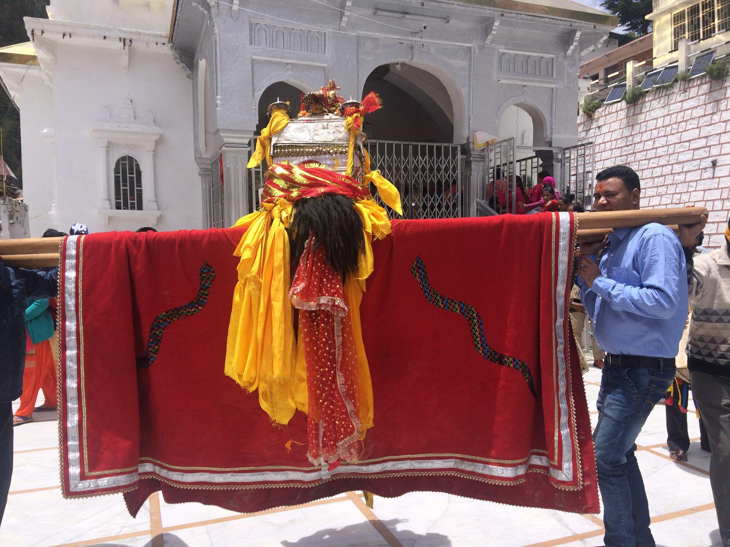 Ceremony at Gangotri Temple