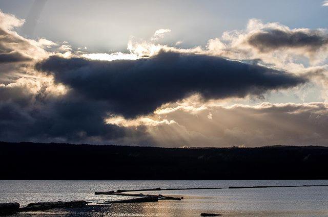#sunset in beautiful #haidagwaii #nature #clouds #beach #sea