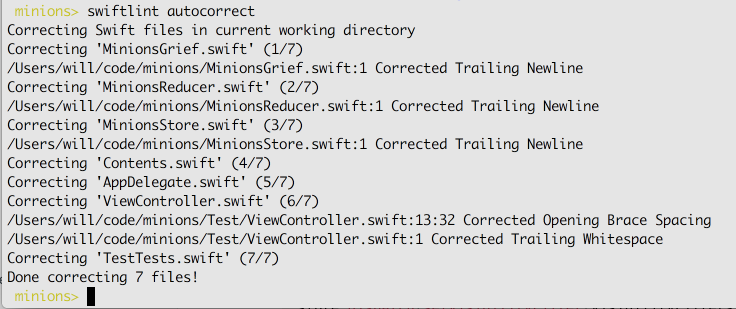 Tooling: swiftlint and swiftgen — Stencia