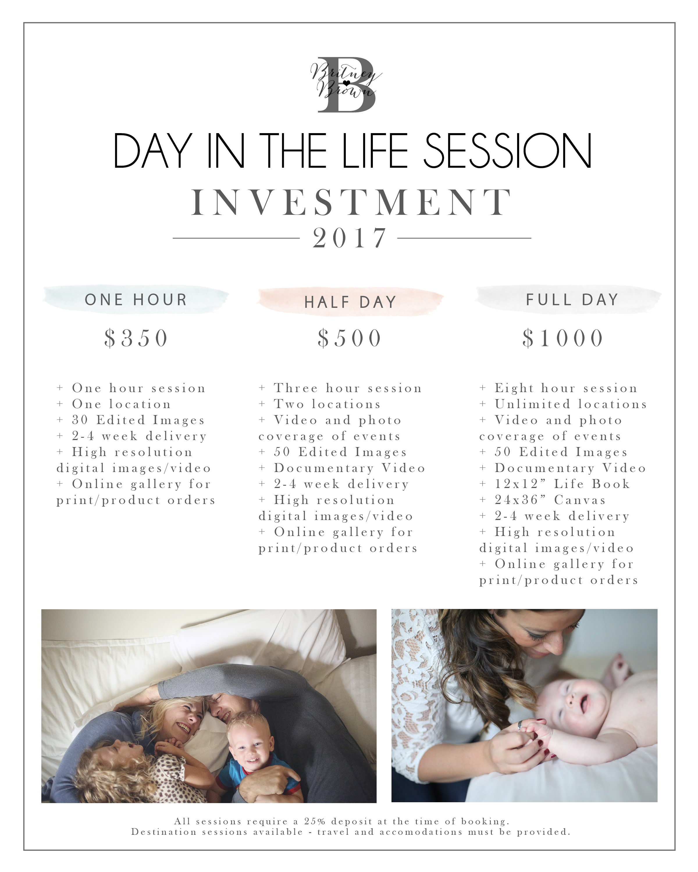 Day In The Life Pricing