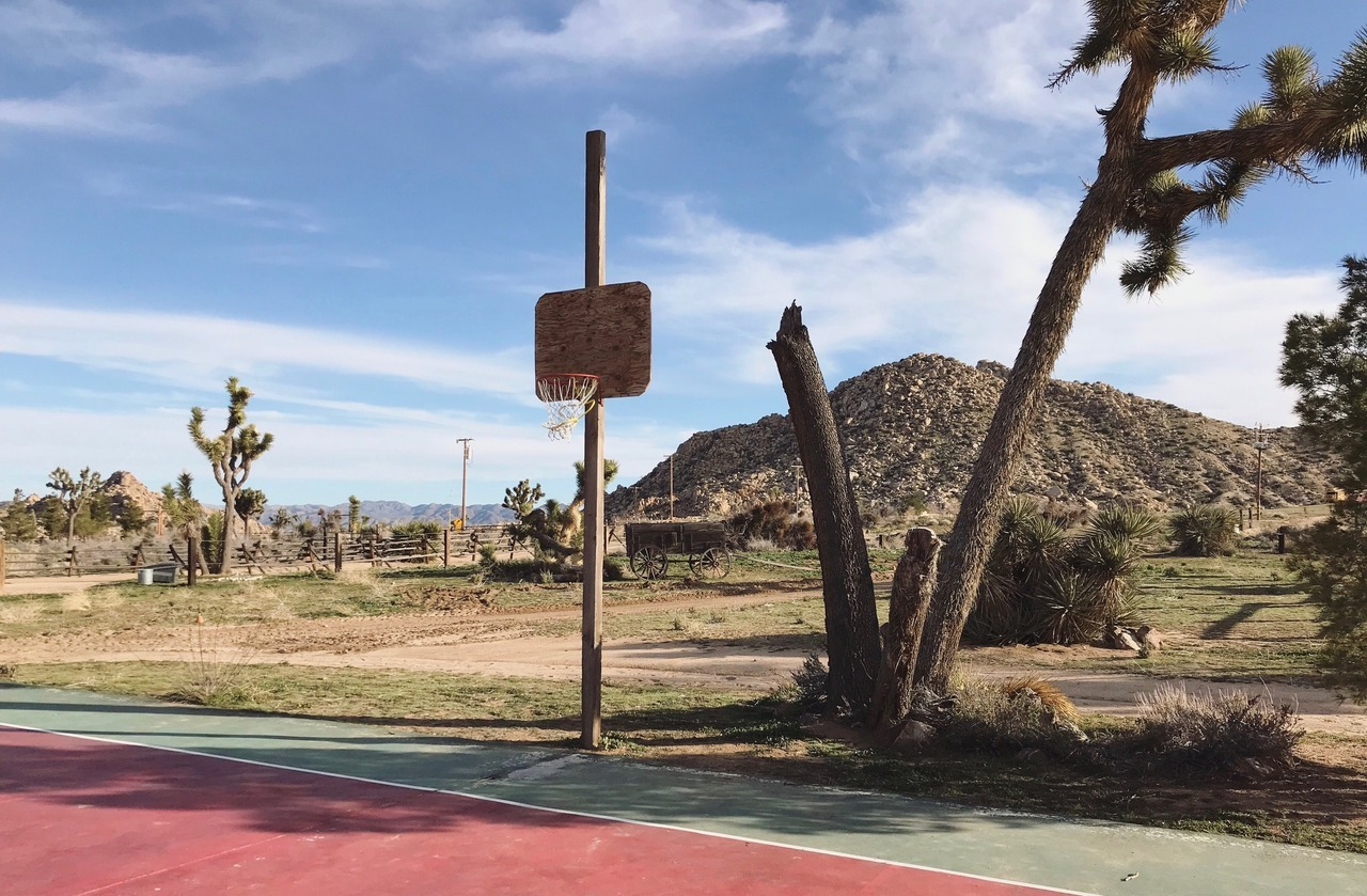 Rural basketball courts in America