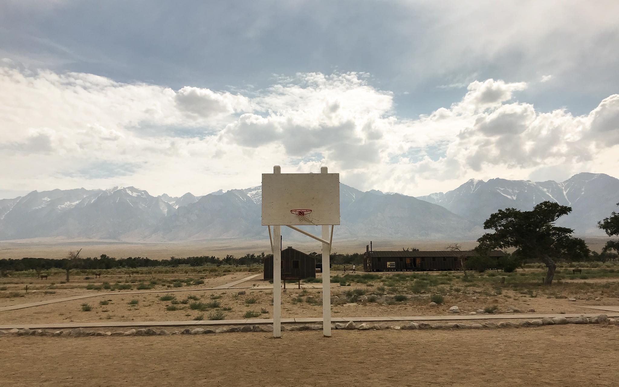 Manzanar Basketball Hoop