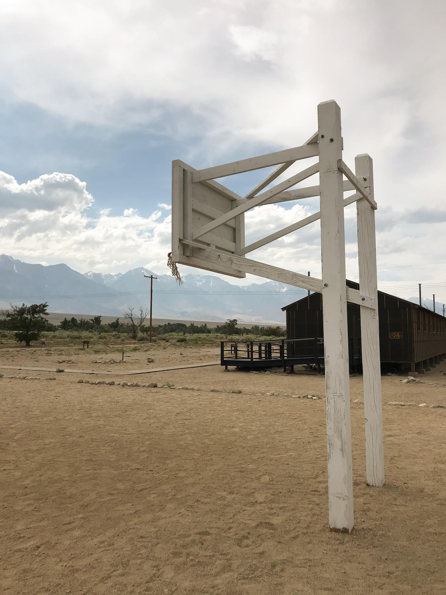 Interesting historic basketball court