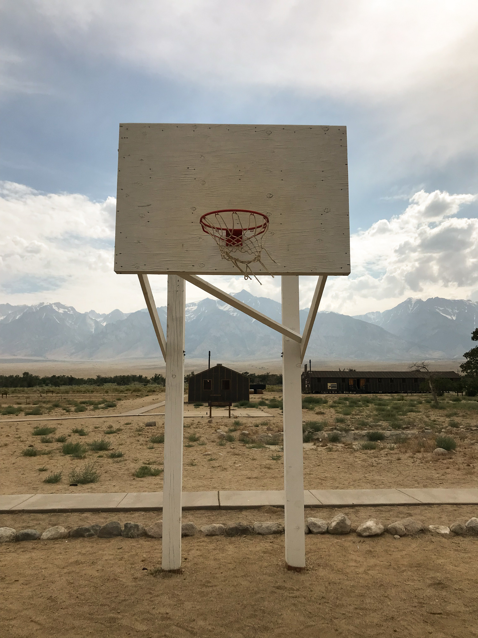 Dusty basketball courts in California