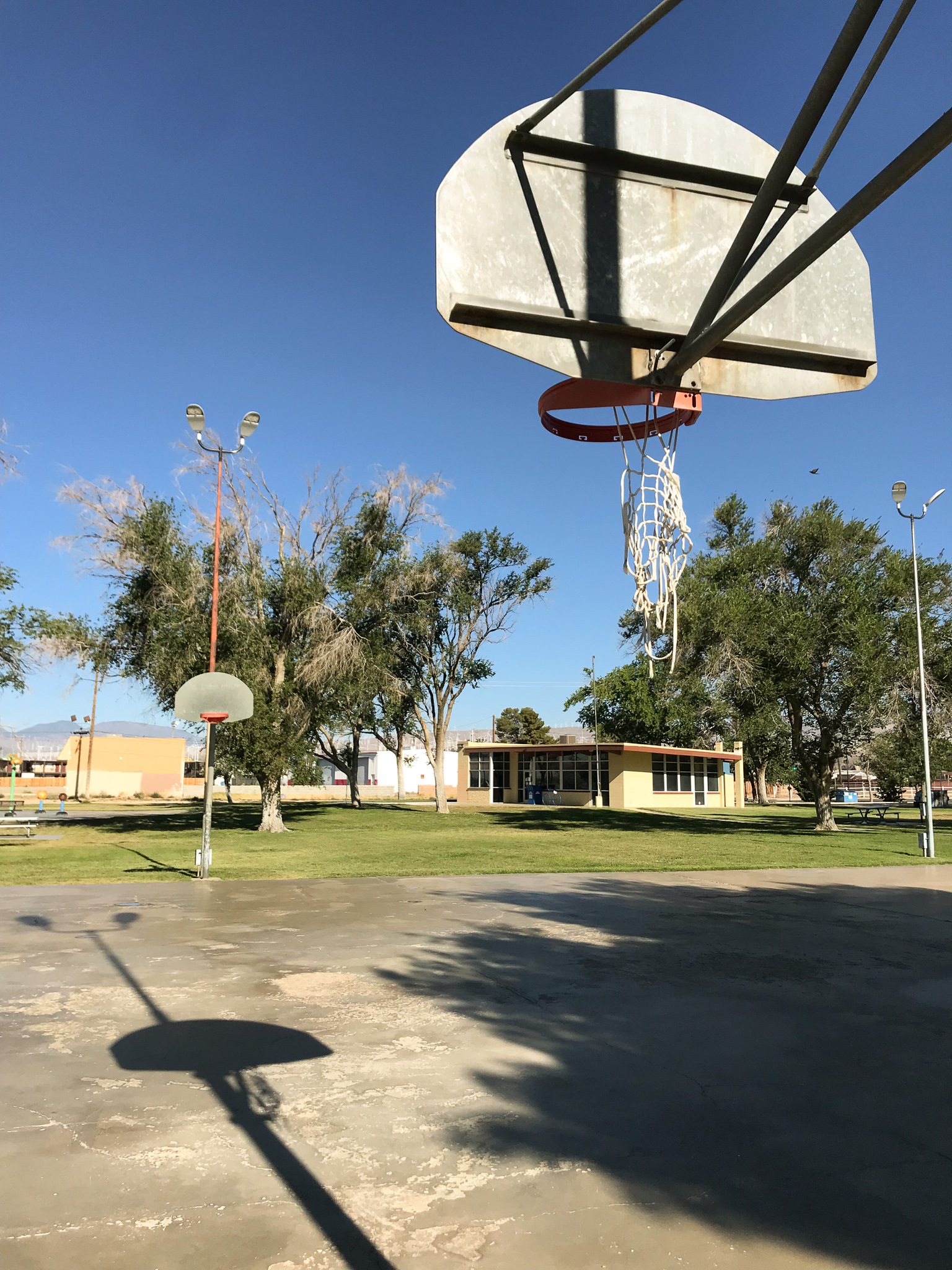 Small town basketball courts