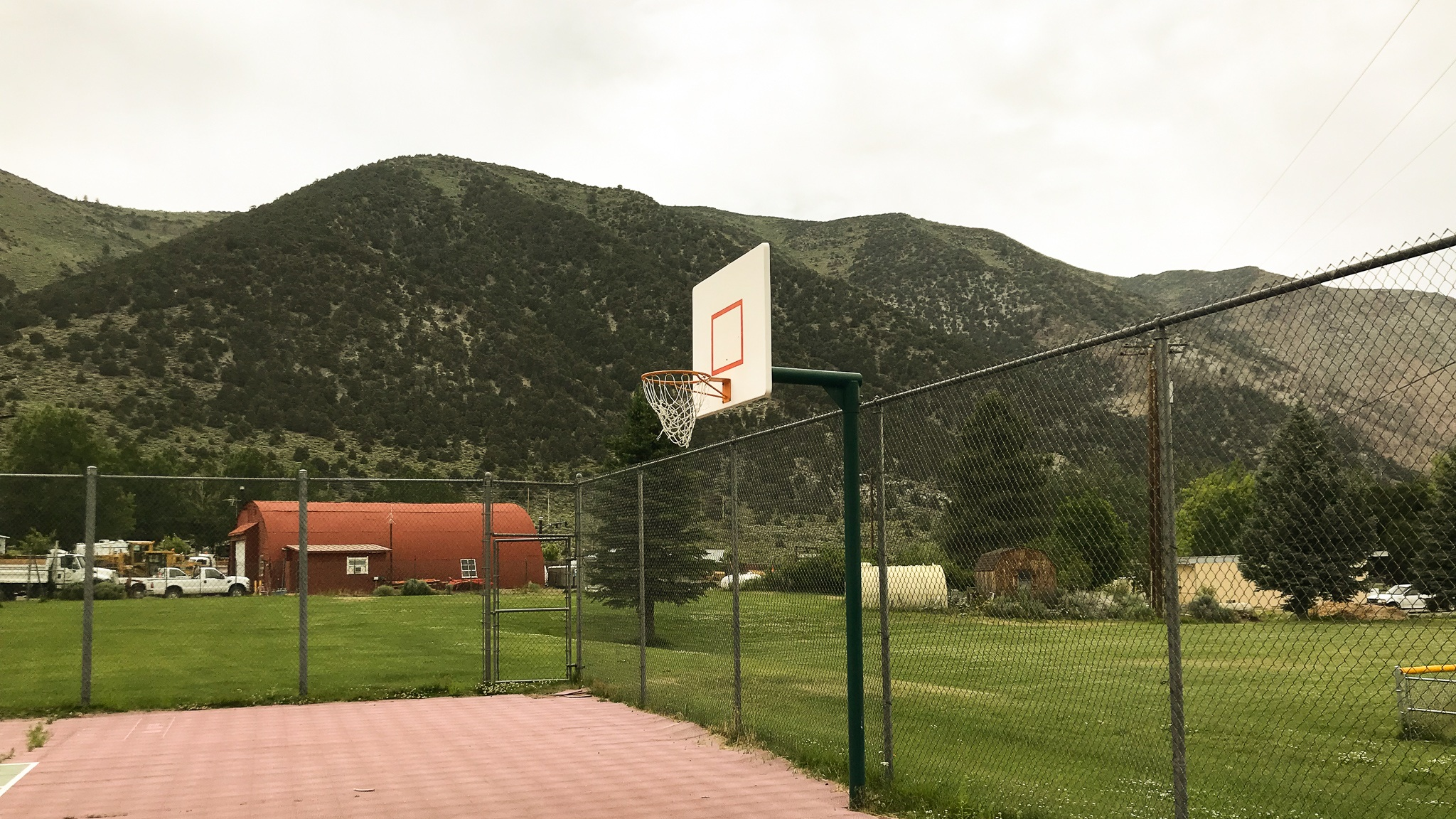 Eastern California basketball court